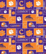 College Clemson University Tigers Print Fleece Fabric By the Yard