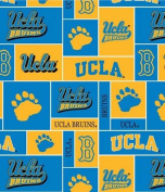 College UCLA University of California Los Angeles Bruins Print Fleece Fabric By the Yard