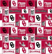 College University of Oklahoma Sooners 012 Print Fleece Fabric By the Yard