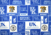 College University of Kentucky Wildcats 012 Print Fleece Fabric By the Yard