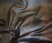 Dark Black and Brown Colour Embossed Crocodile Upholstery Leather Vinyl Fabric