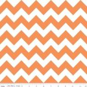 Chevron Stripe Orange Flannel Fabric SKU F320-60
