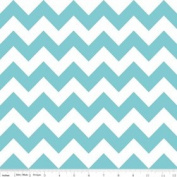 Chevron Stripe Aqua Flannel Fabric SKU F320-20