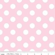 Riley Blake Basics Polka Dot Baby Pink White Flannel Fabric SKU F360-72