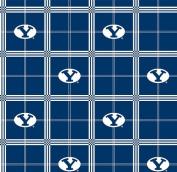 BYU Brigham Young University Flannel Fabric SKU BYU-023