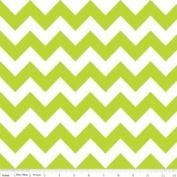 Chevron Stripe Lime Green Flannel Fabric SKU F320-32
