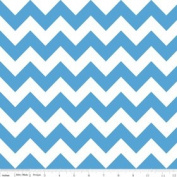 Chevron Stripe Medium Blue Flannel Fabric SKU F320-22
