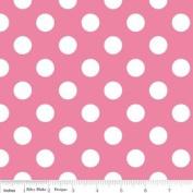 Riley Blake Basics Polka Dot Pink White Flannel Fabric SKU F360-70