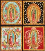 beautiful colourful Virgin Mary fabric Robert Kaufman
