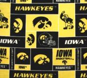 College University of Iowa Hawkeyes Print Fleece Fabric By the Yard