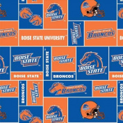 College Boise State University Broncos Print Fleece Fabric By the Yard