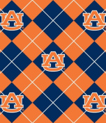 College University of Auburn Tigers Argyle Print Fleece Fabric By the Yard