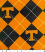 NCAA Fleece Fabric-Tennessee Argyle