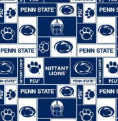 College Penn State University Nittany Lions 012 Print Fleece Fabric By the Yard