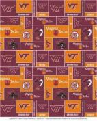 College Virginia Tech University Hokies Print Fleece Fabric By the Yard