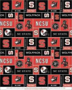 College University of North Carolina State Wolfpack Print Fleece Fabric By the Yard