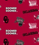 University of Oklahoma Sooners Fleece Fabric-oklahoma Sooners Fleece Fabric Sold By the Yard