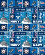 United States of America Navy USA Military Fleece Fabric Print