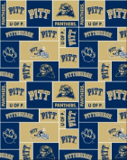 College University of Pittsburgh Panthers 012 Print Fleece Fabric