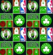 Cotton NBA Boston Celtics Basketball Sports Team Print Cotton Fabric by the yard