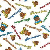 The Berenstain Bears Logo & Family Pictures on Cream Cotton Fabric Print By the Yard