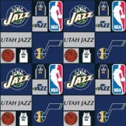 Cotton NBA Utah Jazz Basketball Sports Team Print Cotton Fabric by the yard