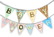 Daisy Kingdom Easy Cut and Sew Celebrate Banner Kit, Baby Shower