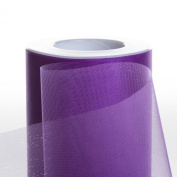 Koyal Wholesale 25-Yard Sheer Organza Fabric Roll, 15cm , Royal Purple