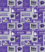 Kansas State University By Sykel - 100% Polyester Fleece, 150cm Wide
