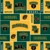 College University of Baylor Bears Fleece Fabric Print By the Yard