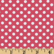 Riley Blake Cotton Jersey Knit Small Dots Hot Pink Fabric