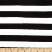 Riley Blake Jersey Knit 2.5cm Stripes Black Fabric
