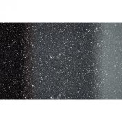 I Want My Space 140cm Wide Ombre Stars Black Fabric