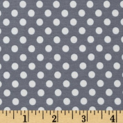 Riley Blake Cotton Jersey Knit Small Dots Grey Fabric