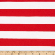 Riley Blake Jersey Knit 2.5cm Stripes Red Fabric