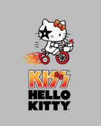 Hello Kitty Fleece Fabric:Biker KISS by Sanrio