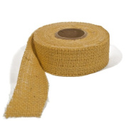Burlap Ribbon - Gold, 7.6cm X 10 Yards