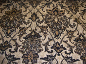 Black Damask Chenille Upholstery Drapery Fabric By the Yard 140cm Wide