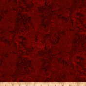 270cm Flourish Quilt Backing Red Fabric