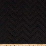 Minky Cuddle Embossed Chevron Black Fabric
