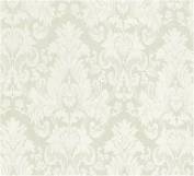 Ivory French Damask Jacquard Thick Cotton Upholstery Drapery 140cm W