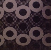 Black Twinkling Rings Synthetic Suede 150cm Fabric