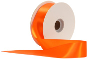 Offray Single Face Satin Craft 3.8cm by 50-Yard Ribbon Spool, Torrid Orange