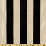 Dior Flocked Stripe Ebony/Almond Fabric