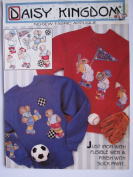 "NO SEW FABRIC APPLIQUE KIT FROM DAISY KINGDOM ""LITTLE SLUGGER"" 6221"