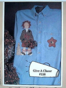 """GIVE A CHEER"" #158 FABRIC APPLIQUE PATTERN FROM THE WHOLE COUNTRY CABOODLE"