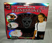 "Premium Iron-On Rhinestones Kit - ""Royalty"" with Crowned Skull"
