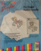 Carousel Horse - Preshaded Mini Fashion Iron-On Transfers - 36cm X 43cm Sheet (Dizzle Art) #50038