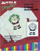 Ho Ho Ho Santa - Preshaded Iron-On Transfers - 36cm x 43cm Sheet (Dizzle Art) #50027