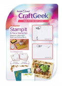 Purple Cows Craftgeek Stamp It 6-Piece Stamp Set